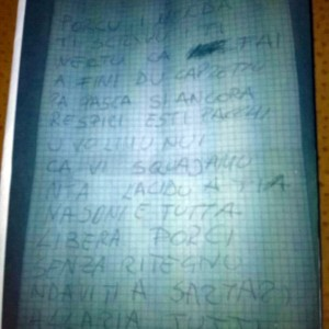 lettera di minacce